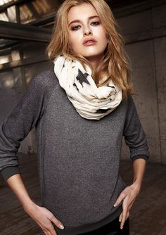 Great outfit for school! Infinity scarf and a loose T. Comfy and fashionable. -SophiaSees