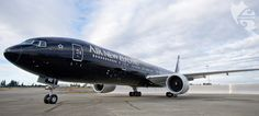 All Black 777-300ER -- I flew on this aircraft twice to and from Auckland, NZ. Amazing aircraft. Even more beautiful up close.
