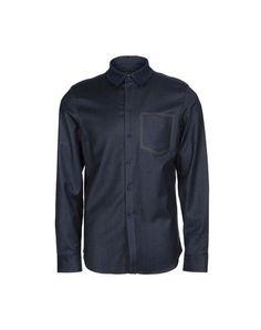 EMPORIO ARMANI Men's Shirt Dark blue 14 ½ inches-neck