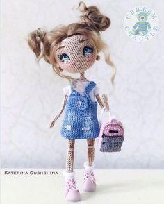 Crochet Dollies, Crochet Doll Pattern, Crochet Art, Easy Crochet Patterns, Crochet Patterns Amigurumi, Cute Crochet, Amigurumi Doll, Doll Patterns, Crochet Toys