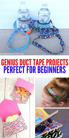 These genius and simple duct tape projects are perfect for beginners. Have fun c… These genius and simple duct tape projects are perfect for beginners. Have fun creating a new look for you and all your stuff! Arts And Crafts For Adults, Crafts For Teens To Make, Arts And Crafts House, Easy Arts And Crafts, Teen Crafts, Art Crafts, Fabric Crafts, Duct Tape Projects, Duck Tape Crafts