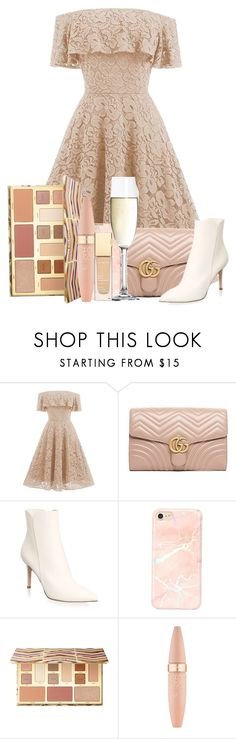 """""""186"""" by scarlett-anon ❤ liked on Polyvore featuring Gucci, Gianvito Rossi, Spiegelau, Sephora Collection and Maybelline"""
