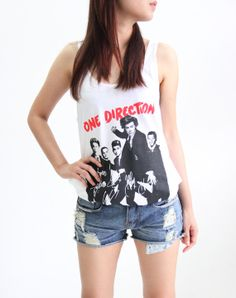 One Direction Tank Top Woman 1D Music T Shirt by BittersweetTshirt, $15.50