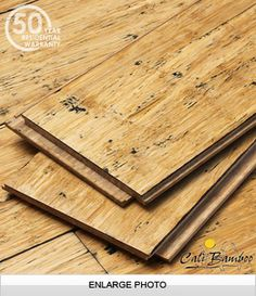 CaliBamboo  Distressed Natural Fossilized® Wide Click Bamboo Flooring