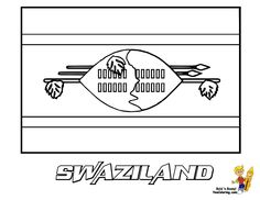 Swaziland Flag Coloring Page You Have All 195 International Flags To Color In