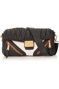 Miu Miu Biker quilted leather shoulder bag NET-A-PORTER.COM