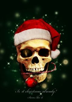 Christmas skull or the ghost of Santa Past?