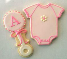 Baby Girl Baby Shower Cookies by Rococo Sugar, via Flickr