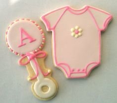 Baby Girl Baby Shower Cookies by Rococo Sugar, via Flickr