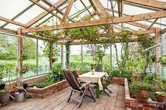 Greenhouse idea #conservatorygreenhouse #indoorgardeningarchitecture