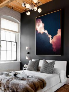 Great Wall Art Abstract art Cloud painting instantly update your room with this stunning large wall art on canvas, by artist Corinne Melanie. Title: Cumulus II Size: Your choice of or Blue Abstract Painting, Large Painting, Painting Prints, Art Paintings, Abstract Landscape, Ocean Paintings, Large Abstract Wall Art, Landscape Artwork, Painting Canvas