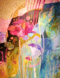 Artist Dorothy Ganek is inspired by color, pattern and design. Enjoy her stunning portfolio of paintings featured on Artsy Shark today. Abstract Flowers, Abstract Art, Creation Art, Art Sculpture, Arte Floral, Art Techniques, Love Art, Abstract Expressionism, Painting Inspiration