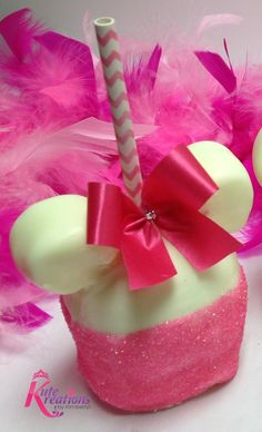 Minnie Mouse Candy Apples www.KuteKreations.com