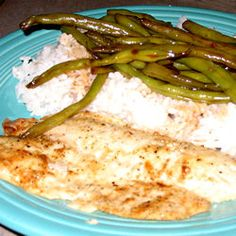 Lemon Garlic Talapia...use olive oil in place of butter to adapt this recipe to the Virgin diet