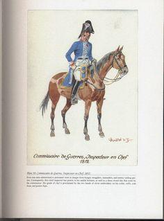 Command and staff: Plate 50: Commissaire de Guerres, Inspecteur en Chef, 1812.