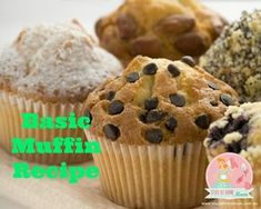 This is a Basic Muffin Base recipe.  You can add your own ingredients and create the perfect muffin for you!  If you want a savoury muffin - just omit the sugar, if you want it fruity, add …