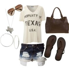 Casual Texas afternoon, created by hhester on Polyvore