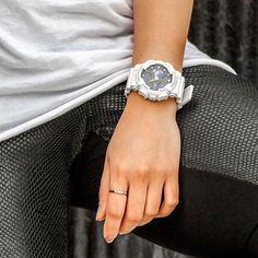 Contrast is queen with the S Shock, Arm Party, Casio G Shock, Digital Watch, Bling Bling, Fashion Forward, Watches For Men, Contrast, Wedding Rings