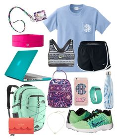 """""""High school student"""" by jadenriley21 on Polyvore featuring The North Face, Kate Spade, Speck, Vera Bradley, NIKE, lululemon, Kendra Scott, S'well, Vineyard Vines and Fitbit"""