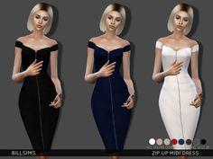 Bill Sims' Zip Up Midi Dress