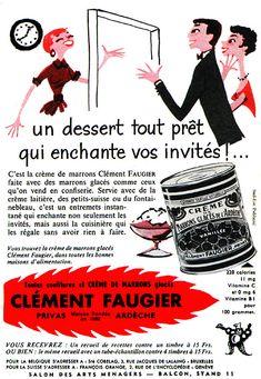 crème de marrons Clément Faugier - 1956