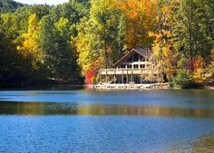 Norris Lake, Tennessee - If you go there once you will want to go back again and again. Vacation rentals are easy to find for groups of 4 - 34. This picture is truly an indication of what it's like! Secluded, and beautiful - but at the same time the water sports make it an adventure! Favorite marina - Shanghai Resort.