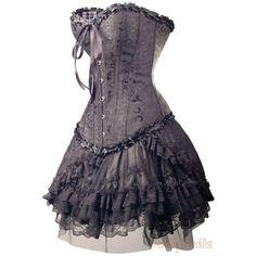 dress vintage skirt bows bow ribbon victorian corset ribbons vintage d ❤ liked on Polyvore featuring dresses, short dresses, blue cocktail dress, victorian corset dress, victorian corset and vintage corset
