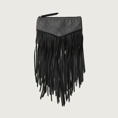 Abercrombie & Fitch Fringe Wristlet ($30) ❤ liked on Polyvore featuring bags, handbags, clutches, zip wristlet, fringe purse, zipper wristlet, black clutches and black wristlet