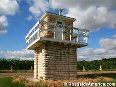 Guard tower from a World War II Nazi prisoner of war camp, Concordia, Kansas