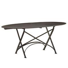 The Sleekest Metal Table - Oval