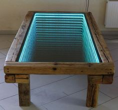 Be inspired by these infinity tables using LED strips http://themetapicture.com/handmade-infinity-tables