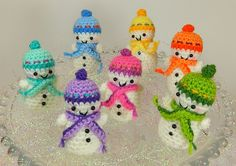 Teeny-Tiny Snowman Free Crochet Pattern