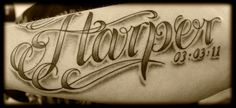 Tattoo Fonts and Tattoo Lettering is as broad as it is narrow. Find some of the more unique, popular, rare and odd tattoo lettering and tattoo fonts on the tattoo scene. Names Tattoos For Men, Tattoo Font For Men, Tattoo Script, Name Tattoos, Tattoos For Kids, Trendy Tattoos, Tattoo Fonts, Unique Tattoos, Cool Tattoos