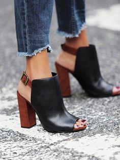 Platform shoes are a city girl's saving grace. // Schutz Coast-to-Coast Heels in Black