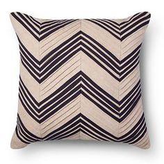 Pleated Chevron Square Decorative Pillow Tan - Threshold™