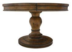 Westport Round Reclaimed Wood Extension Pedistal Table