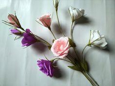 DIY How to make paper Lisianthus flower - Làm hoa cát tường bằng giấy ...