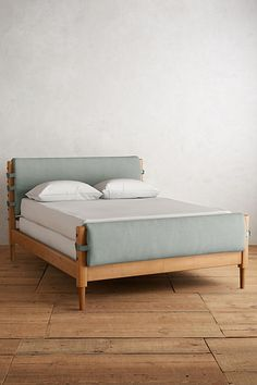 Your bedroom is a personal oasis. Populate it with unique bedroom furniture from headboards to dressers. Shop Anthropologie for your next treasure. Unique Bedroom Furniture, Bed Furniture, Furniture Sale, Furniture Design, Leather Double Bed, Leather Bed, Green Leather, Curved Bed, Colonial Furniture