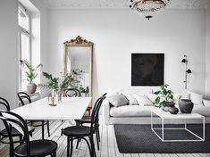 Белоснежный интерьер шведской квартиры (98 кв. м) | Пуфик - блог о дизайне интерьера