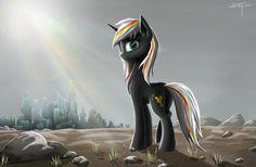 #964712 - artist:oo00set00oo, fallout equestria, female, manehattan, oc, oc:velvet remedy, ruins, safe, solo - Derpibooru - My Little Pony: Friendship is Magic Imageboard