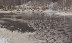 Rimfrost på sjön Racken by Gustaf Fjaestad