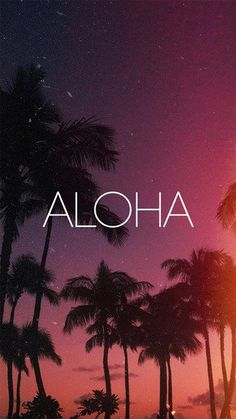 Aloha iPhone 5S / SE wallpaper