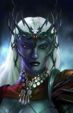 d&d dark elf matron mother Portrait, matrona madre drow Videogame: Neverwinter Nights, Hordes of the Underdark (2003-12) © Atari, Wizards of the Coast & Hasbro