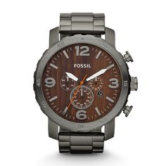 Nate Chronograph Stainless Steel Watch – Smoke JR1355 | FOSSIL®