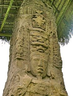 Massive, beautifully-carved stone monuments led to Quiriguá's World Heritage Site status. Quiriguá's Stela F shows the face and elaborate. Maya Architecture, King Picture, Maya Civilization, Illusion, Archaeological Discoveries, Tikal, Mesoamerican, Ancient Aliens, Stone Carving