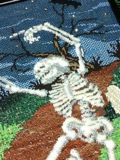 Moondance needlepoint by Sandra Gilmore http://www.needlepoint-for-fun.com/shop/Sale/Needlepoint-On-Sale/p/Halloween-NeedlepointBRMoondance-On-Sale-sku-SG18-210.htm