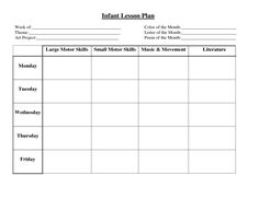 Babies lesson plan example...We should design something similar ...