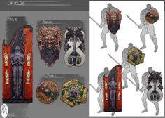 Fantasy shield designs