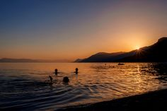 There is nothing quite like swimming in sunset