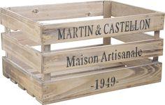 Caisse en bois maison artisanale : Récolte AUBRY GASPARD sur Jardindeco.com 27.90 €